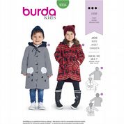 9334 Burda Pattern: Kids' Fleece Coats